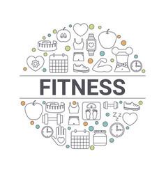 fitness design concept fitness design concept vector image