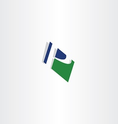 green blue letter p logo sign p icon vector image