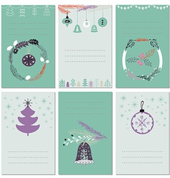 Invitation Christmas cards with place for text vector image