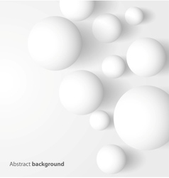 Abstract 3d white spheric background vector