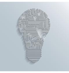 Circuit board bulb vector image