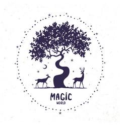 deer magic vector image vector image