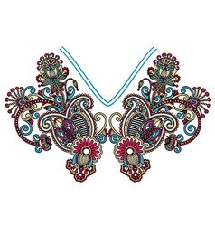 Neckline embroidery fashion vector image