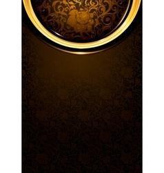 Pattern dark brown Vintage vector image vector image