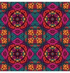 Seamless colorful geometric print vector