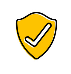 shield protection data information security check vector image