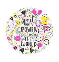 sport has power vector image vector image