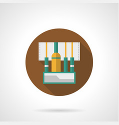 stage sound wires flat round icon vector image vector image