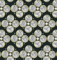 Abstract Circles Dark Endless Seamless Pattern vector image vector image