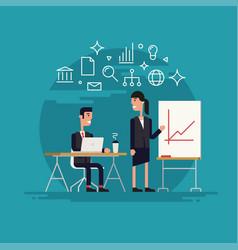 business woman presentation vector image