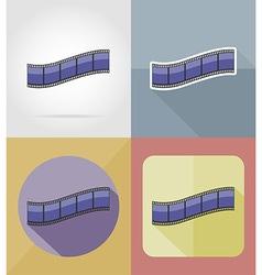 cinema flat icons 06 vector image vector image