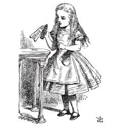 Drink me Alice vector image vector image