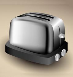 Metallic toaster vector image vector image