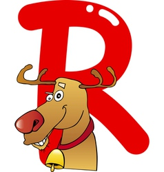 R for reindeer vector image