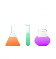 test tubes vector image