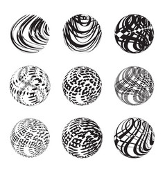 abstract 3d shape or sphere vector image