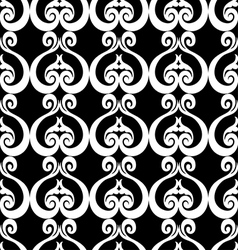 Abstract background with ornament black and white vector image