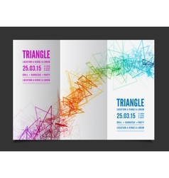 abstract triangle outline vector image