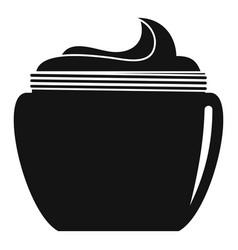 Aloe body cream icon simple style vector