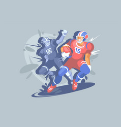 american football sports event a football player vector image