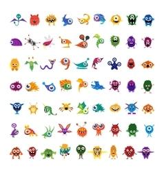 big set drawings custom characters vector image