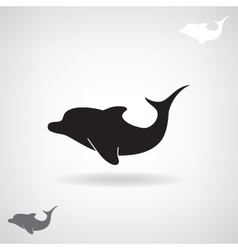 Black stylized silhouette of a Dolphin vector image