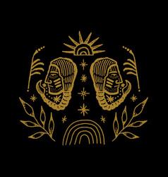 Boho abstract symbols navajo indians vector