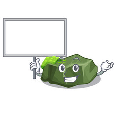 bring board cartoon green rock sample of high vector image