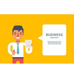 Business Concepts with Businessman Cartoon vector image vector image