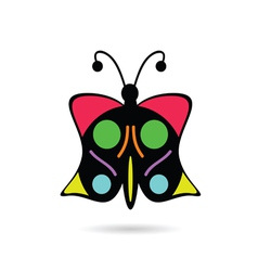 butterfly icon in color vector image
