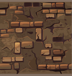 Cartoon seamless pattern texture old brown vector