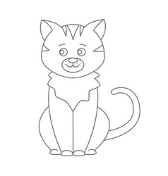 Cat for coloring book vector