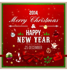 Christmas Background with Text Space vector image