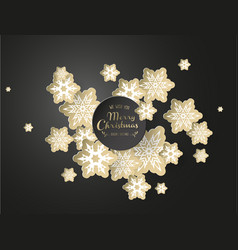 christmas background with white and golden vector image