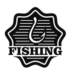 classic fishing hook logo simple style vector image