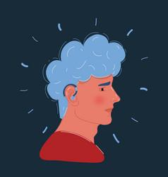 Close-up a man ear vector