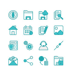 Cloud server line icon for web vector
