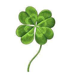 clover symbol of patrics day vector image