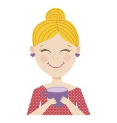 Coffee girl vector