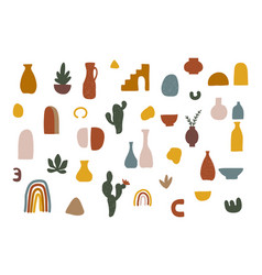 Collection abstract figures vector