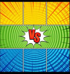 comic vs bright composition vector image