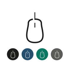 computer mouse outline graphic vector image