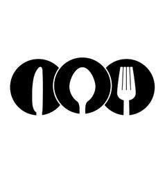 contour cutlery icon image design vector image