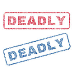 Deadly textile stamps vector