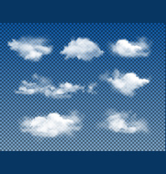 different types realistic clouds vector image
