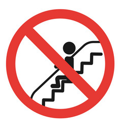 Do not sit escalator icon simple style vector