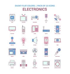 Electronics icon dusky flat color - vintage 25 vector