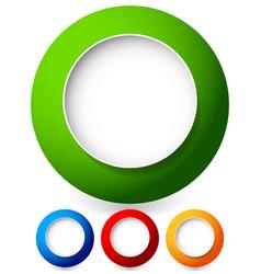 Empty colorful circle shape circle element eps 10 vector