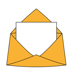 Envelope with letter icon vector