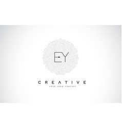 ey e y logo design with black and white creative vector image